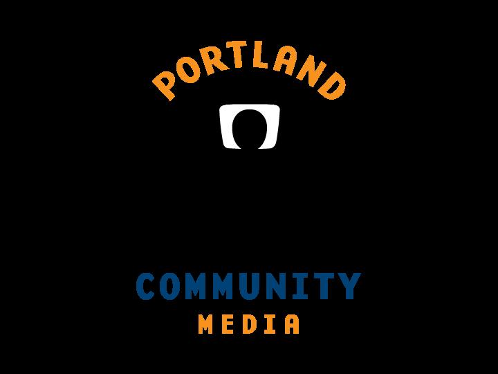 Portland Community Media logo and hotlink