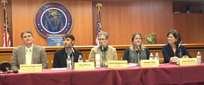 Picture of panel of speakers at FCC